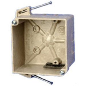 "Allied Moulded 9338-ESC2 3-1/2"" Round Ceiling/Fixture Box, Depth: 2"", Old Work, Non-Metallic"