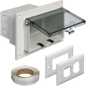 Arlington DBHR1C Weatherproof-In-Use Box, 1-Gang, Recessed, Horizontal, Non-Metallic