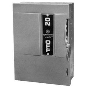 GE Industrial TG4323R Disconnect Switch, Fusible, 100A, 240VAC, 3P, 4 Wire, NEMA 3R