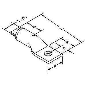 3M 40073 Copper/aluminum One-hole Lug