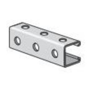 "Power-Strut PS200H3-10PG Channel - Bolt Holes/Back & Side, Steel, 1-5/8"" x 1-5/8"" x 10'"