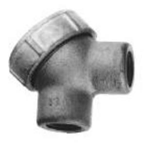 """Cooper Crouse-Hinds LBY15 Pulling Elbow, Capped, 90°, 1/2"""", Explosionproof, Malleable Iron"""