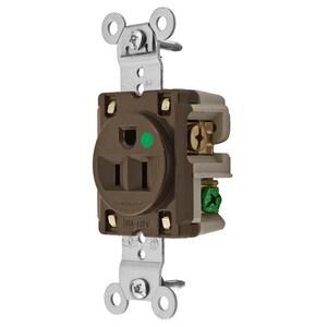 Hubbell-Wiring Kellems HBL8210 SGL RCPT, HG, 15A 125V,