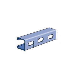 "Unistrut P1000T-10SS Channel - Elongated Holes, Stainless Steel, 1-5/8"" x 1-5/8"" x 10'"
