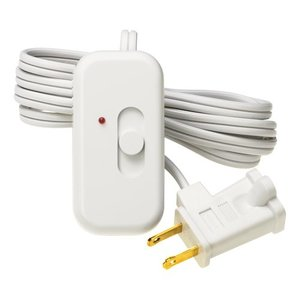 Lutron TT-300NLH-WH Slide Dimmer, 300W, Plug-In, Credenza, White