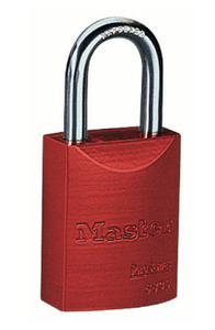 Ideal 44-922 PADLOCK IDEAL AL SFTY RED BAKED-ON POWDER CT