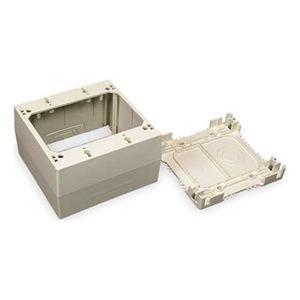 Wiremold 2344-2-WH Extra Deep Device Box, 2-Gang, 2300 Series Raceway, White