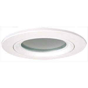 "Elco Lighting EL2612W 8"" Die Cast Trim with Lens, White with Frosted Lens"