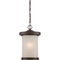 Satco 62-645 DIEGO - LED OUTDOOR HANGING W/ SATIN AMBER GLASS
