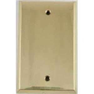 Mulberry Metal 64151 Blank Wallplate, 1-Gang, Polished Brass, Box Mount