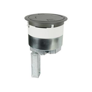 "Wiremold 8ATC2PBK Poke-Thru Assembly, Diameter: 8"", Type: (2) Duplex, Aluminum Cover"