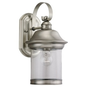 Sea Gull 88081-965 Lantern, Outdoor, 1 Light, 100W, Antique Brushed Nickel