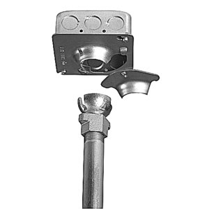 """Steel City SHHF-1/2-3/4 Swivel Hanger, Hands-Free, Steel, For Use With 4"""" Square Boxes"""