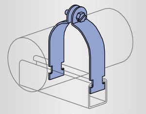 Unistrut P2031-EG O.d. Tubing Clamp