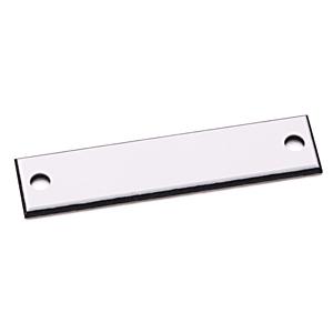 Allen-Bradley 800H-W1E Custom Engraved Nameplate, 30MM,White, Plastic, Standard, 800H