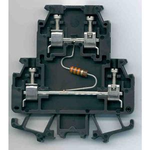 Allen-Bradley 1492-HM2RA102 Terminal Block, Black, Double Circuit Resistor, 1000 Ohm, 1/2 Watt