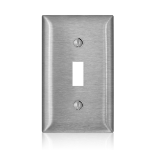 Leviton SL1 Toggle Switch Wallplate, 1-Gang, 430 Stainless Steel