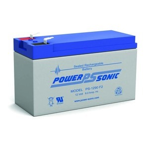 Power-Sonic PS-1290F2 Rechargeable Sealed Lead Acid Battery, 12V, 9Ah