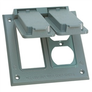 Cooper Crouse-Hinds TP7207 Weatherproof Cover, 1-Gang, Horizontal, Type: Duplex, Zinc Die Cast