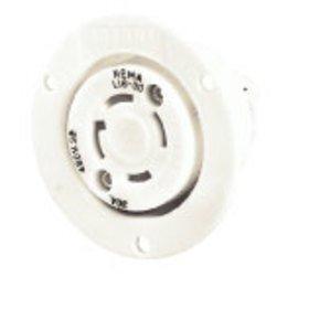 Hubbell-Bryant 71730ER Lkg Flg-rcpt, 30a 3ph 600v, L17-30r,wh