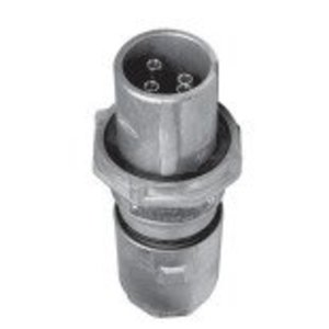 Cooper Crouse-Hinds APJ3385 Pin & Sleeve Plug, Weatherproof, Aluminum, 30A, 2-Wire, 3-Pole