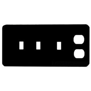 Mulberry Metal 76554 Combo Wallplate, 4-Gang, (3) Toggle/(1) Duplex, Steel, White, Maxi