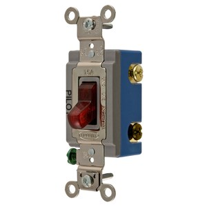 Hubbell-Kellems HBL1203PL Extra Heavy Duty Industrial Switch, Three Way, 15A, 120-227V, Red