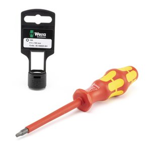Wera Tools 05100025001 Insulated Screwdriver Square Socket Head, # 2 x 100 mm