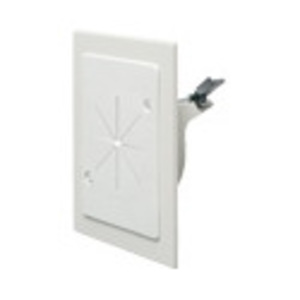 Arlington CE1RP Wallplate, Cable Entry, Slotted, 1-Gang, Non-Metallic, White