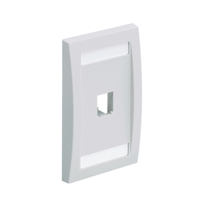 CFPE1WHY MINICOM 1P FACEPLATE WHITE