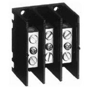 Allen-Bradley 1492-PDM3111 Distribution Block, Mini, 115A, 600V AC/DC, 3P, Alum., 1 In/1 Out