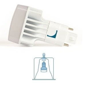 Lunera HN-V-G24Q-26W-3500-G2 LED Helen Lamp, 4-Pin, Vertical Orientation, 13W, 3500K