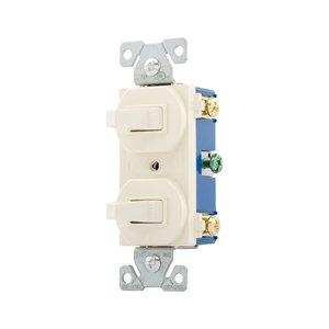 Eaton Wiring Devices 271LA Switch Duplex Comb SP/SP 15A 120V LA