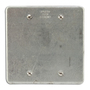Appleton FSK-2B Blank Cover, 2-Gang, Steel, Fits FS and FD Boxes