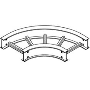 "Eaton B-Line 6A-12-90HB24 Cable Tray 90° Horizontal Bend, 24"" Radius, 12"" W, 6"" H, Aluminum"