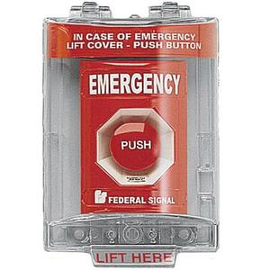 Federal Signal PSEMSC-R Control Station, Emergency Stop, 1NO/NC, Red Twist Release