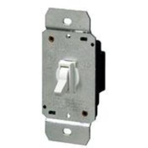 Leviton 6641-W Toggle Dimmer, 600W, Single-Pole, Leviton, White