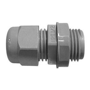"Thomas & Betts LH50G Cord Connector, 1/2"", Cord Range: .170 to .470"", Non-Metallic"
