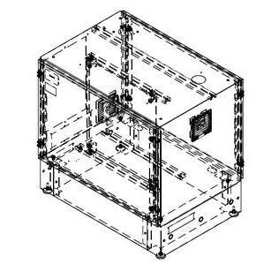 """Hammond Mfg SR0700739 Base Assembly, Dual Access, 34""""H x 36""""W x24""""D, 2 Filter Fans"""