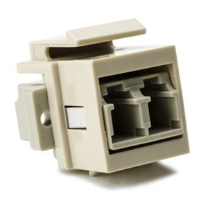 HellermannTyton LCMMINSERT-I LC Multimode Fiber Module, Beige, Ivory