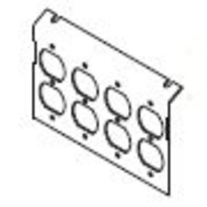 Wiremold P8850-4DP AC8850 PLATE FOR 4 DUPLEX DEVICES
