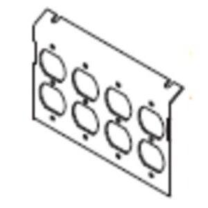 Wiremold P8850-4DP Duplex Receptacle, Service Box Plate