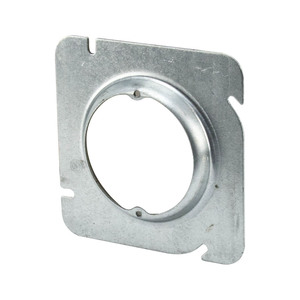 "Appleton 8488B 4-11/16"" Square Fixture Cover, Mud Ring, 5/8"" Raised, Drawn"