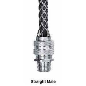 "Hubbell-Kellems 074011251 Str Male, Dcg, .75-.87"", 1 1/4"" W/mesh"