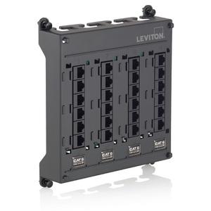 Leviton 476TM-612 Twist & Mount Patch Panel 12 CAT 6 Ports