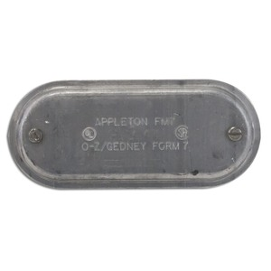 "Appleton 170SA Conduit Body Cover, Form 7, Size: 1/2"", Material: Aluminum"
