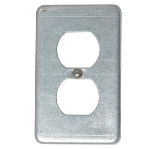 Appleton FSK-1DR-A Receptacle Cover, 1-Gang, Aluminum, Fits FS and FD Boxes