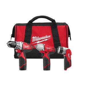 Milwaukee 2493-23 M12 Cordless 3-Tool Combo Kit