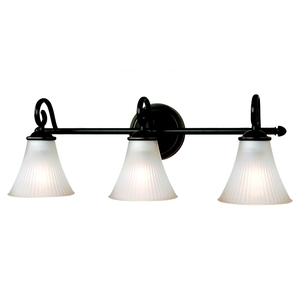 Sea Gull 44937-782 Bath Light, 3 Light, 100W, Heirloom Bronze