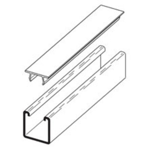 Eaton B-Line B217P-120-WHITE PLASTIC SNAP CLOSURE STRIP FOR ALL 1 5/8-IN. CHANNELS, 10 FT,